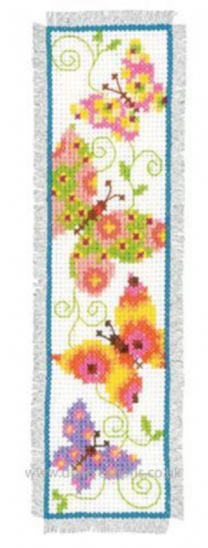 Butterflies Flapping I Bookmark Cross Stitch Kit
